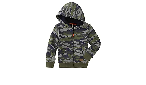 871de339e Amazon.com  Toughskin Toddler Boys Green Camo Sherpa Hoodie ...