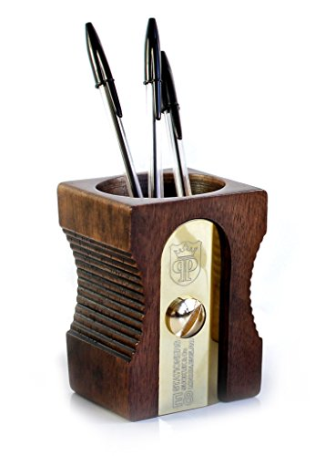 Suck UK Pencil Sharpener Desk Tidy and Stationary Holder/ Pen Pot - Perfect for Pens, Pencils, Rulers, Markers and Scissors  - Dark
