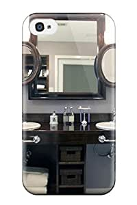 Cute Tpu ZippyDoritEduard Bathroom With Twin Sinks And Layered Mirrors Case Cover For Iphone 4/4s