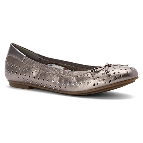 Vionic 359 Pewter Leather Surin Womens Shoes rv5qUrwx
