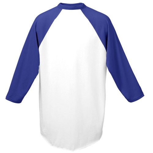 Adult Raglan Baseball - Augusta Sportswear Men's Baseball Jersey, Small, White/Purple