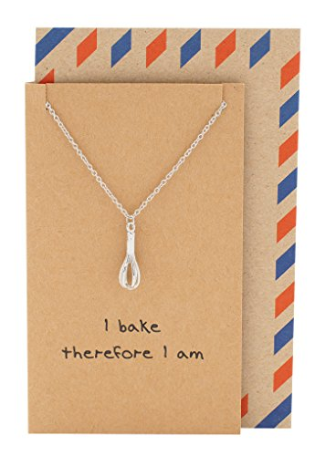 ashion Necklace, Gifts for Mom, Small Kitchen Appliances, Chef, Cook and Baker Pendant, with Funny Quote Greeting Card ()