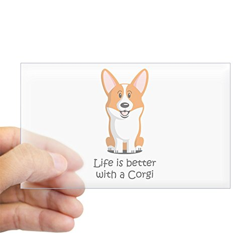 CafePress Pembroke Welsh Corgi Sticker (Rectangle) Rectangle Bumper Sticker Car Decal