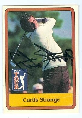 - Curtis Strange autographed card (Golf) 1981 Donruss #3 Badly Creased - Autographed Golf Cards