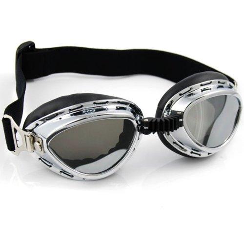 [Sporty Look Ski Skiing Snowmobilings Snowboard Snow Snowmobile Snowvehicle Chrome Frame Mirror Lens Sun UV Protect Goggles] (Ski Costumes)