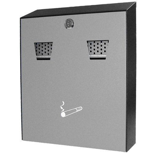 Powder-Coated Wall-Mounted Cigarette Bin | Stainless Steel Cigarette Bin, Outdoor Cigarette Bin, Wall-Mounted Ashtray by Genware by Genware (Image #1)