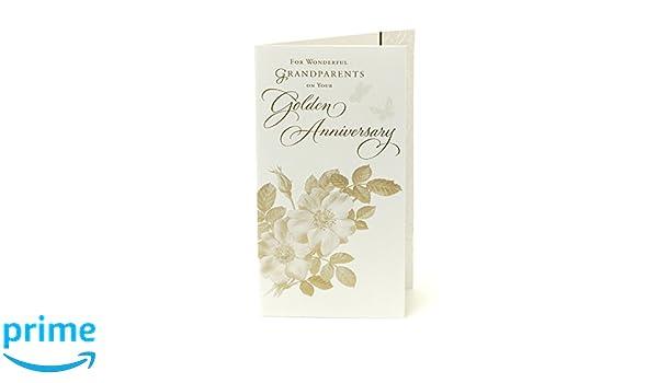 Tarjeta de felicitación de 50 aniversario de boda para abuelos ...