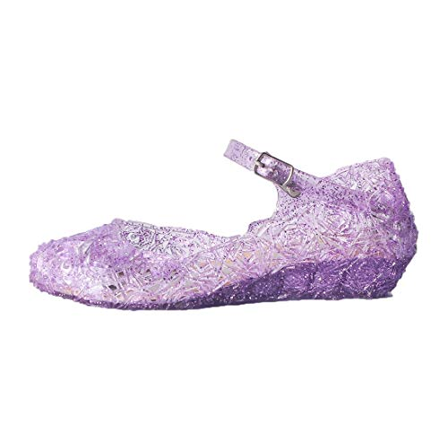 ON Princess Girls Queen Dress Up Cosplay Jelly Shoes for Kids Toddler Dance Party Sandals Mary Janes