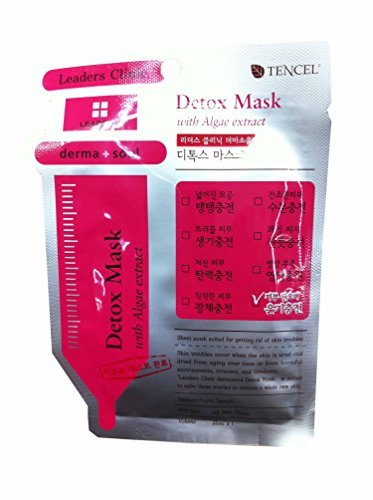 4 Mask sheets of Leaders Clinic, Detox Mask with Algae Extract.