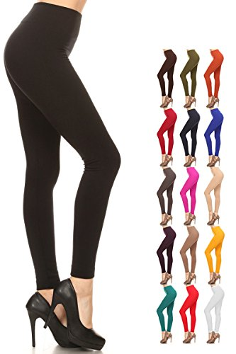- 41xdhZYlw0L - Leggings Depot Women's Popular REG/Plus Premium Warm Fleece Lined Leggings Tights Pants