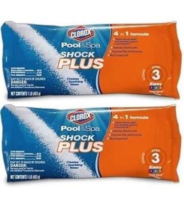 Clorox Pool and Spa 4-in-1 Shock Plus Swim in 15 Minutes - 6 1lb Bags / 6 lbs