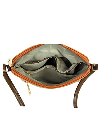 Redfox Messenger Small Tassel Bag nbsp;Elegant Brown Women's Zip Crossbody Shoulder OarOPxqI