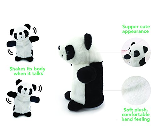 Talking Panda - Upgrade 2017 Newest, Repeats What You Say Plush Animal Electronic Pet Buddy Talking Hamster Unicorn Birthday Gift,Valentines Day Gifts (7.1 Inches)