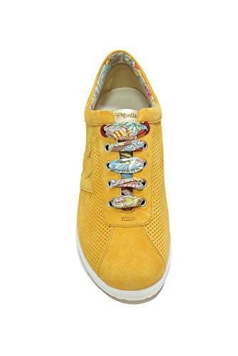Melluso Sneakers zeppa ocra scarpe donna Walk R20110