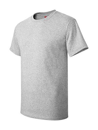Hanes Men's Tagless T-Shirt, Large, Ash