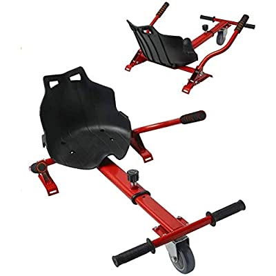 TPS Universal Hoverboard Hovercart Seat Attachment with Adjustable Straps for Hoverboard Self Balancing Scooter for Kids and Adults (Red) : Sports & Outdoors