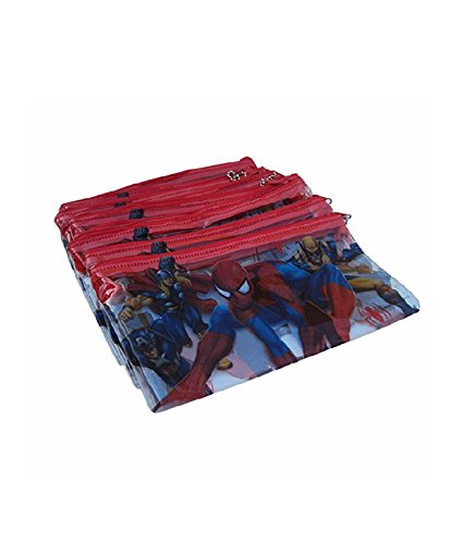 Spiderman Plastic Pouch Set Of 12 For Birthday Return Gifts Amazonin Office Products