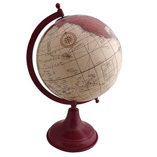 Designer world map home decor 14 tall globe decorative desktop gift designer world map home decor 14 tall globe decorative desktop gift vintage style wood stand antique globes 8 plastic ball globe buy online in uae gumiabroncs Images