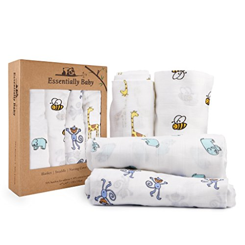 Bamboo Baby Swaddle Receiving Blankets