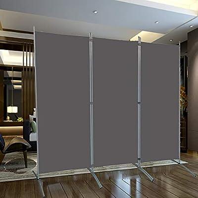 SAILUN® 260x180cm Antracita Biombo de Privacidad Plegable para Casa de Campo Dormitorio Salon: Amazon.es: Hogar