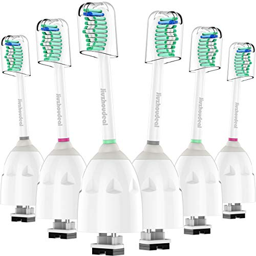 Jiuzhoudeal Replacement brush Heads Compatible with Phillips Sonicare E-Series Toothbrush HX7022/66, Fit Essence, Xtreme, Elite, Advance and CleanCare Electric Handles, 6 Pack
