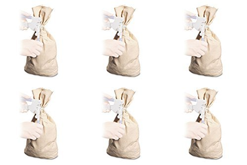MMF Industries Cloth Silver Bag, 19in.H x 12in.W, 6 Packs