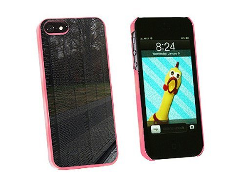 Graphics and More Vietnam Memorial Wall Washington DC Snap-On Hard Protective Case for iPhone 5/5s - Non-Retail Packaging - Pink