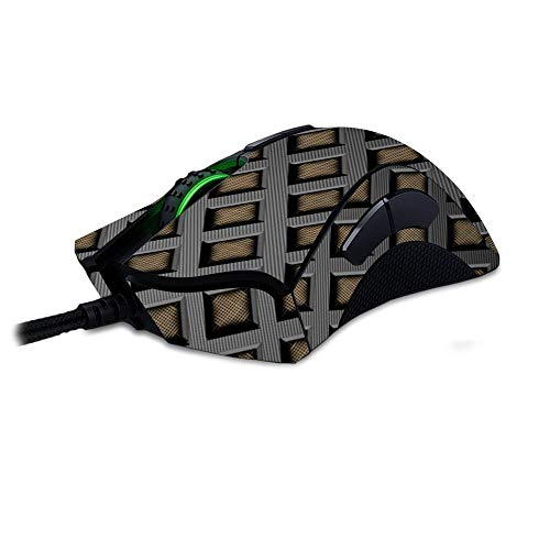 MightySkins Skin Compatible with Razer Deathadder Elite - Black Wall | Protective, Durable, and Unique Vinyl Decal wrap Cover | Easy to Apply, Remove, and Change Styles | Made in The USA