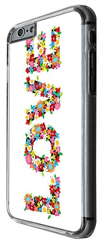 1130 - Cute cool fun love quote inspiration shabby chic flowers daisy colourful Design For iphone 6 Plus / iphone 6 Plus S 5.5'' Fashion Trend CASE Back COVER Plastic&Thin Metal -Clear
