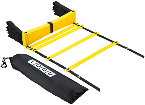 YOGU Agility Ladder Set Training Speed Ladder Footwork Equipment for Sports Soccer Football Exercise Fitness Workouts…