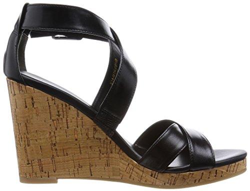 Cole Haan Femmes Jillian Wedge Sandale En Cuir Noir