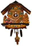 Home-X Battery-Operated Small Cuckoo Clock, Vintage Kitchen or Bathroom Wall Décor
