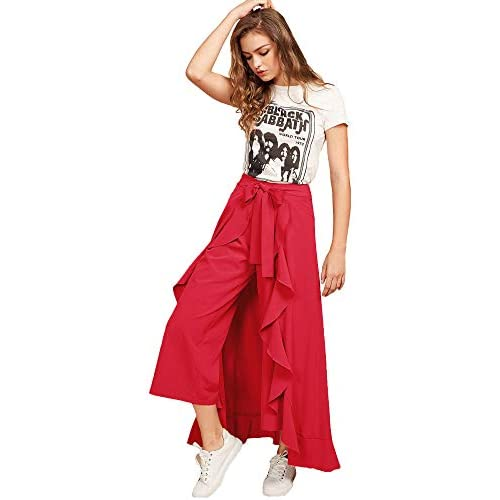 41xdl5FDiAL. SS500  - Addyvero Women's Solid Flared Skirt