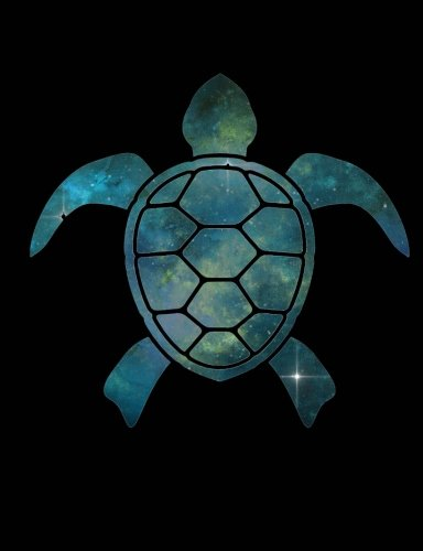 """Composition Book: Galaxy Sea Turtle: College Ruled - 100 Sheets/200 Pages 9 3/4"""" x 7 1/2"""" Glossy Soft Cover pdf epub"""