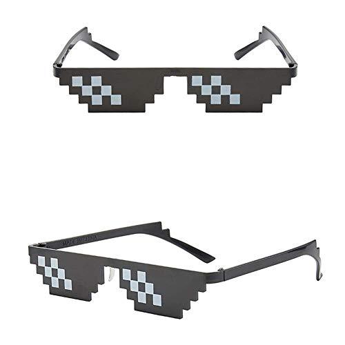 Second Sunny Gafas de Sol Tipo Mosaico de 8 bits pixeladas ...