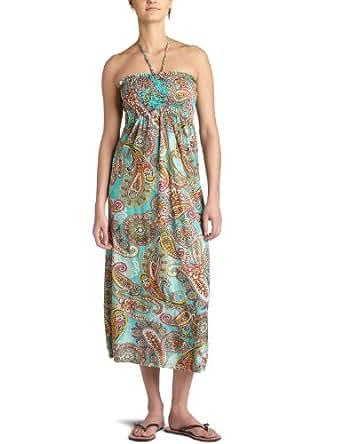 Raviya Women's Smocked Maxi Dress,Turquoise,Medium