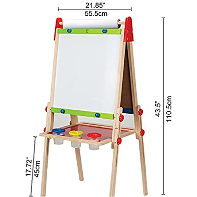 Award Winning Hape All-in-One Wooden Kid's Art Easel with Paper Roll and Accessories: Toys & Games