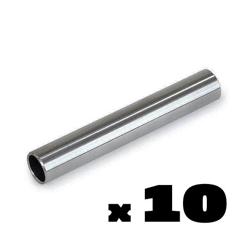 10pc LOT 304 Stainless Steel Tattoo Back Stems Tube Grip Grips Backstem Back Stem
