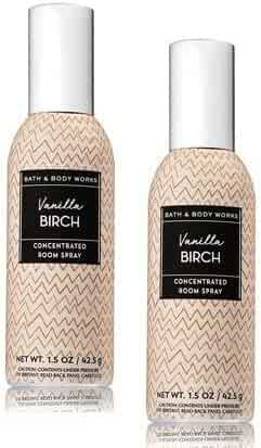 Bath and Body Works 2 Pack Vanilla Birch Concentrated Room Spray. 1.5 Oz.
