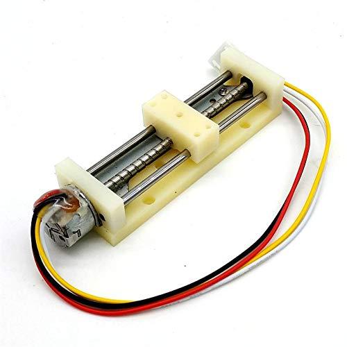 2 fases 4 Cables Micro 10 mm Motor Paso a Paso Control deslizante de tornillo largo Precison lineal bloque