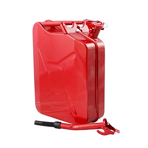 Lovinland Emergency Oil Gas Can 5 Gel 20L Portable Gas Oil Water Bucket Petrol Diesel Storage Can Tanks with Spout Red by Lovinland