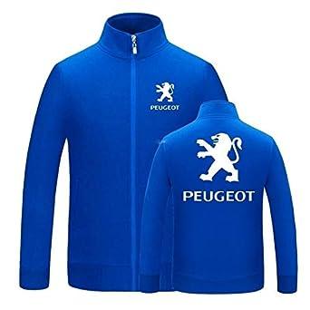 YXSM Suéter Con Capucha Chaqueta Peugeot Sudadera Con Capucha Deportes Al Aire Libre Blue
