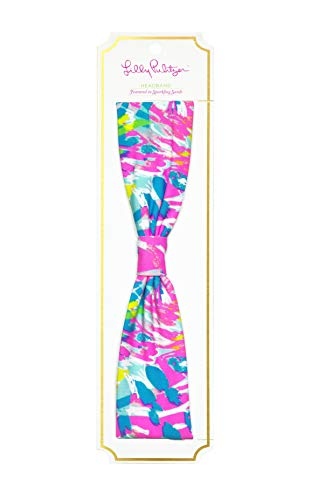 (Lilly Pulitzer Girls Headband, Sparkling Sands, One Size Fits)