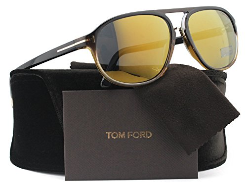 TOM FORD FT0447 Jacob Sunglasses Black Gradient w/Brown Mirror (05C) TF 447 60mm - Tom Ford Jacob Sunglasses
