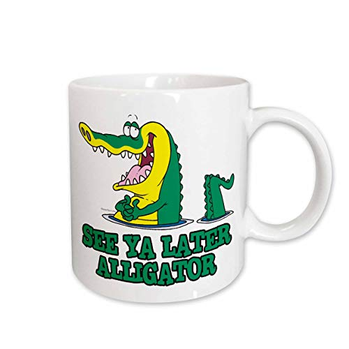 3dRose mug_104311_1 See Ya Later Alligator Ceramic Mug, 11-Ounce