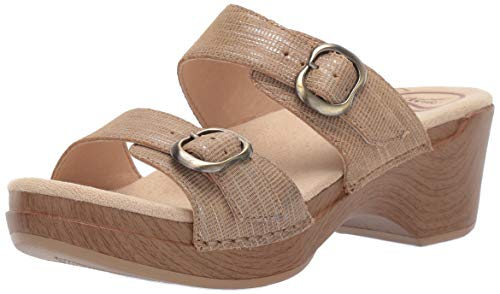 - Dansko Women's Sophie Slide Sandal, tan Metallic, 39 M EU (8.5-9 US)