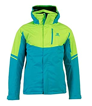 c1881e1927 Salomon Rise Men s Ski Jacket Blue Green  Amazon.co.uk  Sports ...