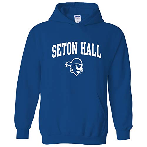 AH03 - Seton Hall Pirates Arch Logo Hoodie - Small - -