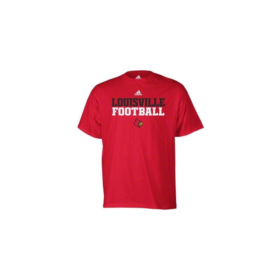 Louisville Cardinals Red Adidas 2011 Football Practice T Shirt