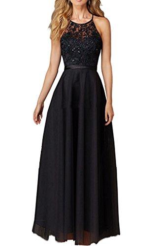 Abendkleider lang schwarz glitzer